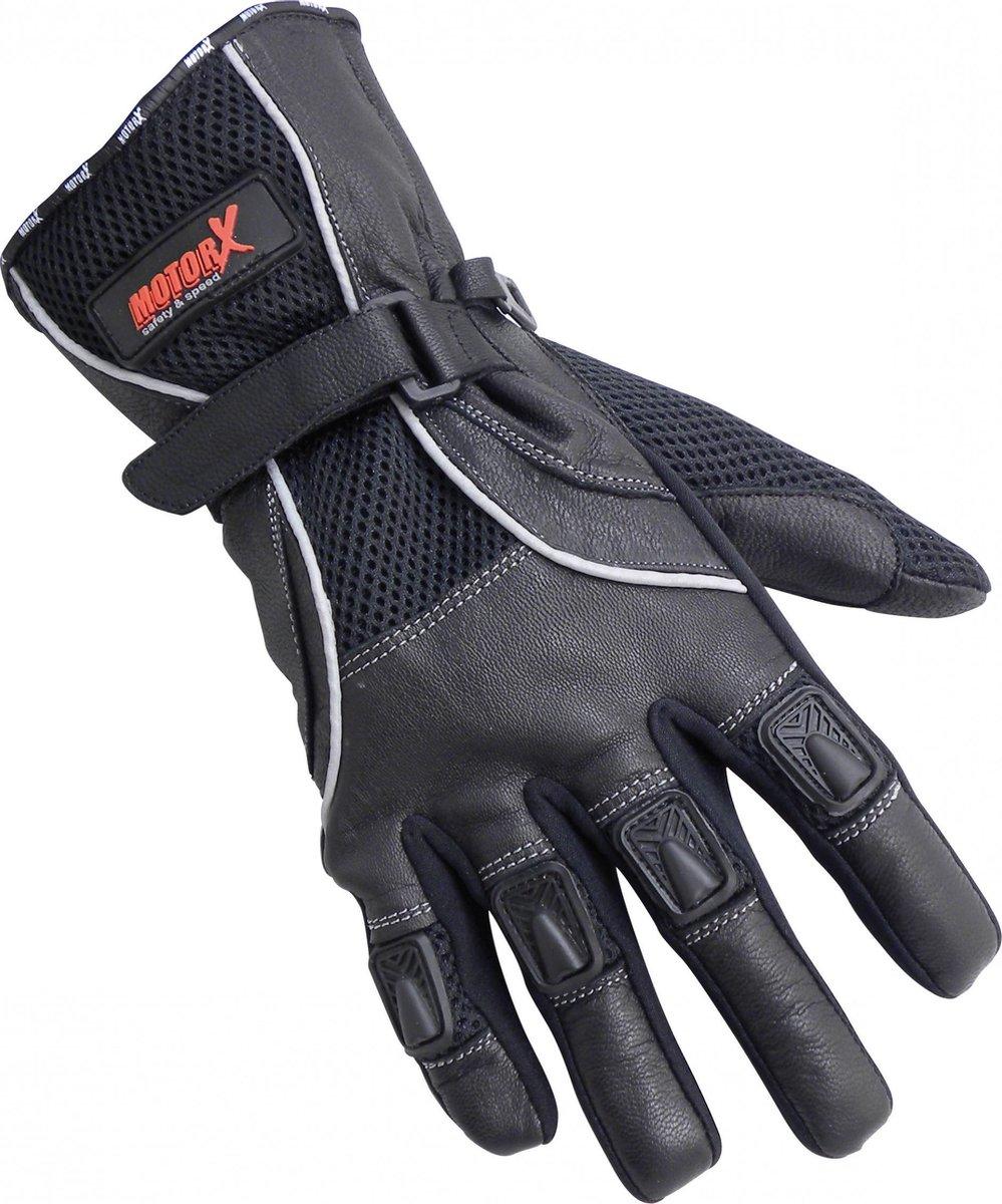 Motorhandschoenen - Echt leder - zomer - zwart - L -MotorX