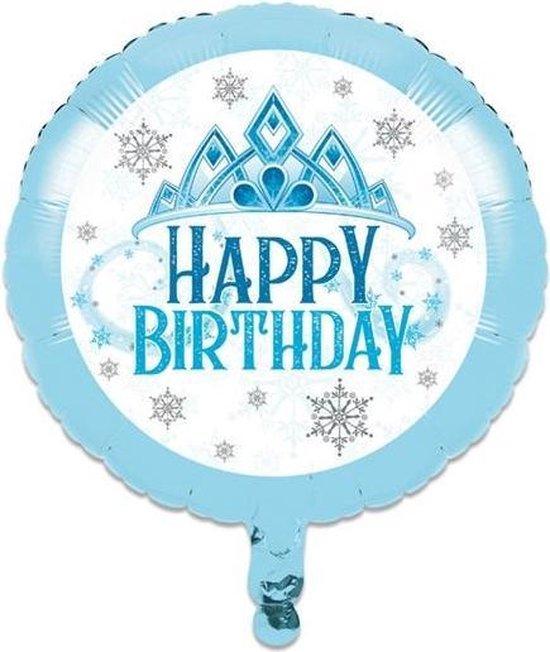 Witbaard Folieballon Snow Princess 46 Cm Folie Blauw