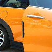 4 STKS Auto Plastic anti-collision Stickers Autodeur Protector Deur Side Edge Sticker (zwart)
