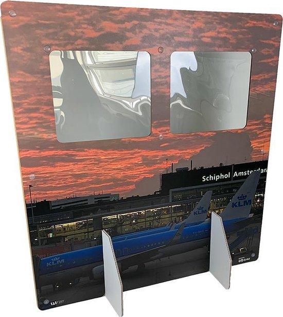 KarTent - Kartonnen Tussenschot voor Horeca en Kantoor - Open Hoog - 147cm x 156cm - Bruin/karton - Coronascherm - Duurzaam Karton