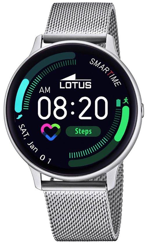 Lotus 50014/1 Smartime Smartwatch – polshorloge – staal/kunststof – zilverkleurig – mm