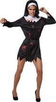 dressforfun - Griezelige non M  - verkleedkleding kostuum halloween verkleden feestkleding carnavalskleding carnaval feestkledij partykleding - 302256