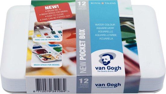 Van Gogh aquarel 12 napjes met penseel