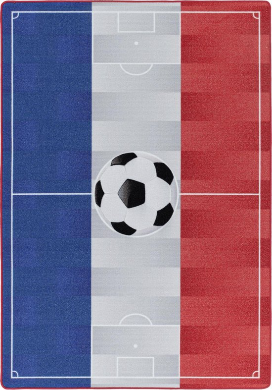 Kinderkamer Vloerkleed Voetbal Nederland Laagpolig - 100x150 CM