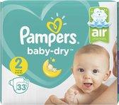 4x Pampers Baby Dry Luiers Maat 2 (4-8 kg) 33 stuks