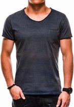 Heren - T-shirt - S1049 - Navy