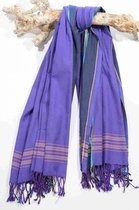 Kikoy Handdoek Giza Purple - Dun Strandlaken - Saunadoek - Saunalaken - Omslagdoek - Stranddoek - Reishanddoek - Plaid - 170x95cm