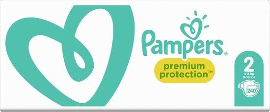 Pampers Premium Protection - Maat 2 (4-8kg) - Maandbox 240 luiers - Pampers
