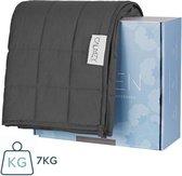Calmzy 2.0 verzwaringsdeken 7 KG - Verzwaarde deken - 150 x 200 cm - Donkergrijs