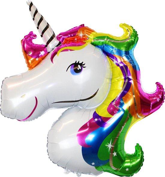 Unicorn Ballon Verjaardag Versiering Eenhoorn Decoratie Feest Versiering Helium ballonnen - XL 110 Cm Met Rietje – 1 Stuks