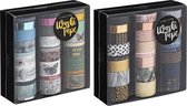 Craft Sensations 2x Washi Tape box | 24 tapes per box | Bullet journal | Decoratietape | totaal 48 verschillende designs