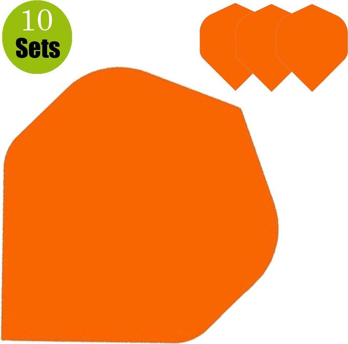 Poly Plain Dartflights - Oranje- (10 Sets)