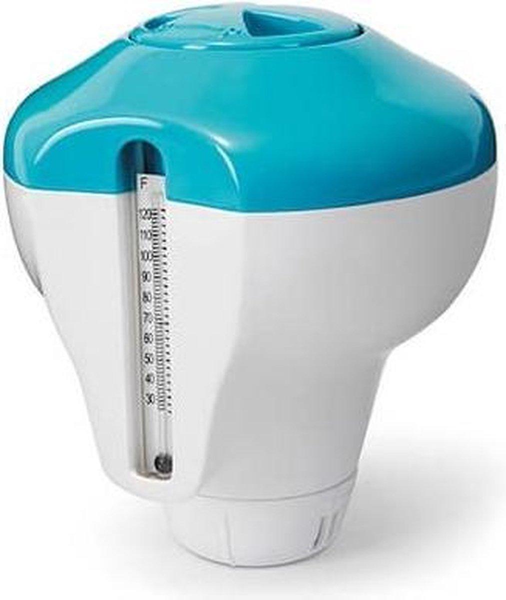 Intex 2-in-1 chloordrijver met thermometer