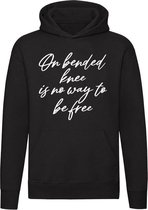 On bended knee is no way to be free Hoodie   sweater   Peter R de Vries   unisex   capuchon