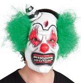 BOLAND BV - Latex clown masker met haren voor volwassenen - Maskers > Integrale maskers