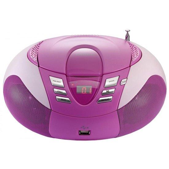 Lenco SCD-37 - Radio CD-speler met MP3 optie en USB - Roze