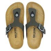 Nelson Kids jongens slipper - Kaki - Maat 33