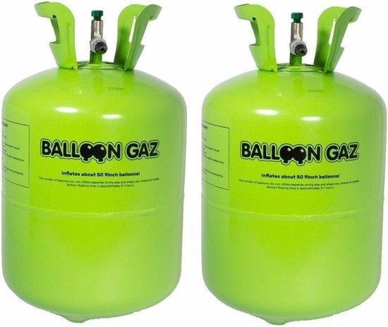 Helium gas tankjes voor 100 ballonnen - 2x Balloon Gaz heliumtank - Ballonnen vullen