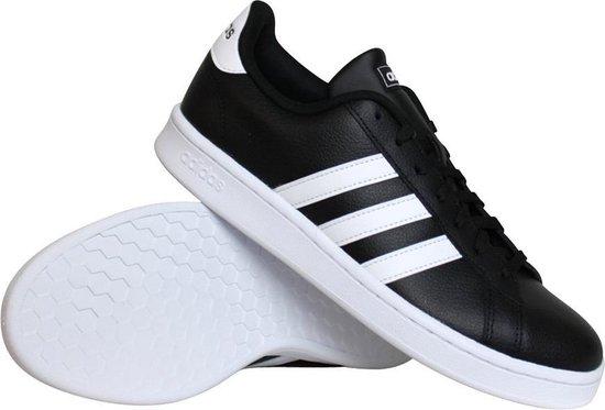 adidas Grand Court Heren Sneakers - Core Black/Ftwr White/Ftwr White - Maat 46