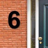 Huisnummer Acryl zwart, cijfer 6, Hoogte 16cm | Huisnummer plexiglas | Huisnummer modern | Huisnummer kopen | Topkwaliteit | Gratis verzending!