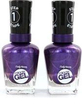 Sally Hansen Miracle Gel Nagellak - 570 Purplexed (2 Stuks)