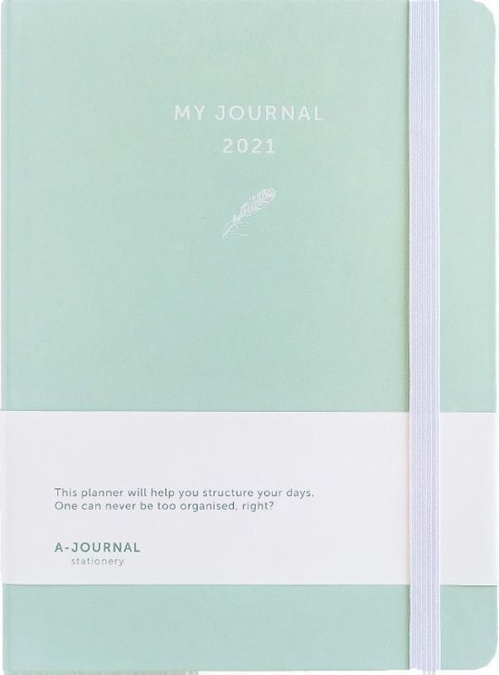 My Journal Agenda 2021 - Mintgroen