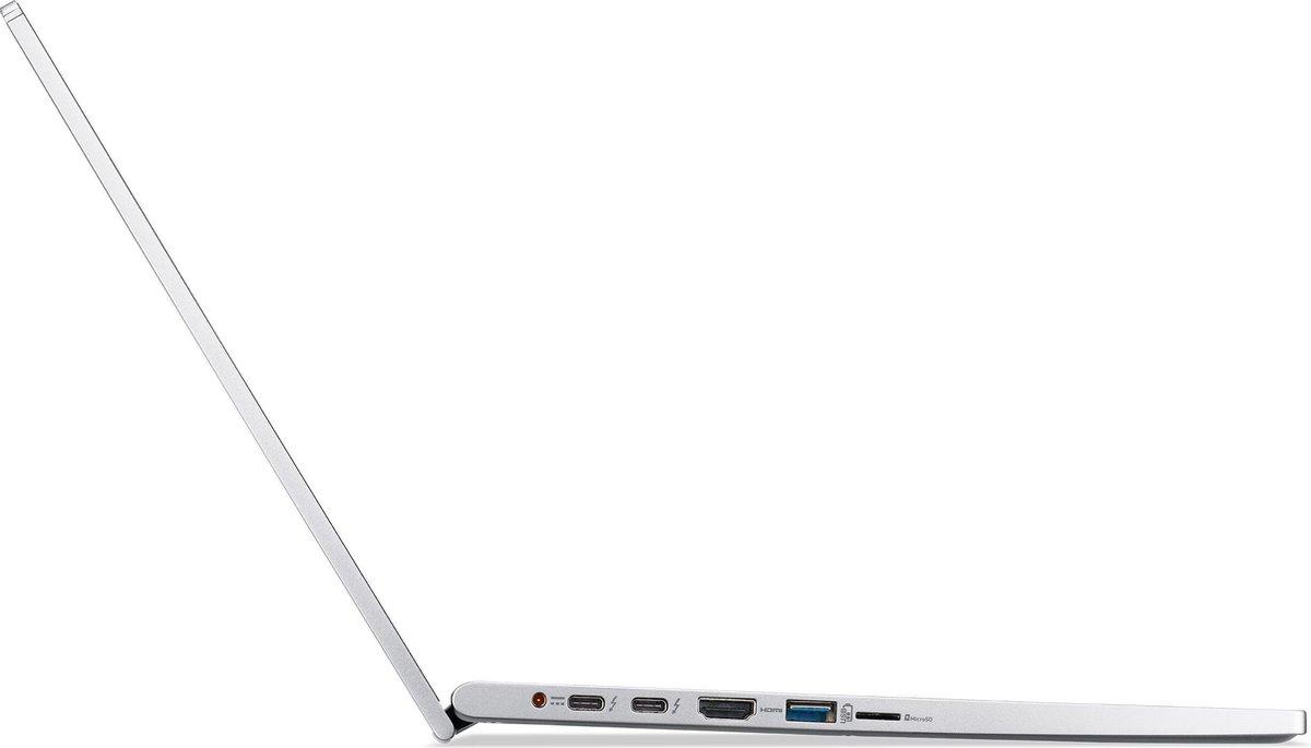 Acer Spin 3 SP313-51N-58JR Hybride (2-in-1) 33,8 cm (13.3) 1920 x 1200 Pixels Touchscreen Intel® 11de generatie Core™ i5 16 GB LPDDR4x-SDRAM 512 GB SSD Wi-Fi 6 (802.11ax) Windows 10 Home Zilver