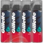 Gillette Normale Huid Scheergel Mannen - 4x200ml Voordeelverpakking