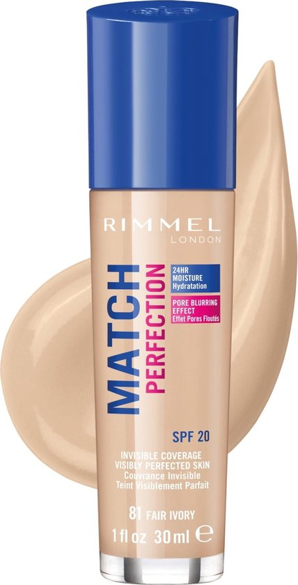 Rimmel Match Perfection Foundation – 81 Fair Ivory