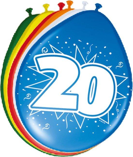 Folat - Ballonnen - 20 Jaar - 30cm - 8st.