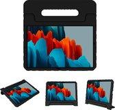 iMoshion Kidsproof Backcover met handvat Samsung Galaxy Tab S7 tablethoes - Zwart