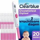 Clearblue Ovulatietest set Digitaal - 1 digitale houder en 20 testen