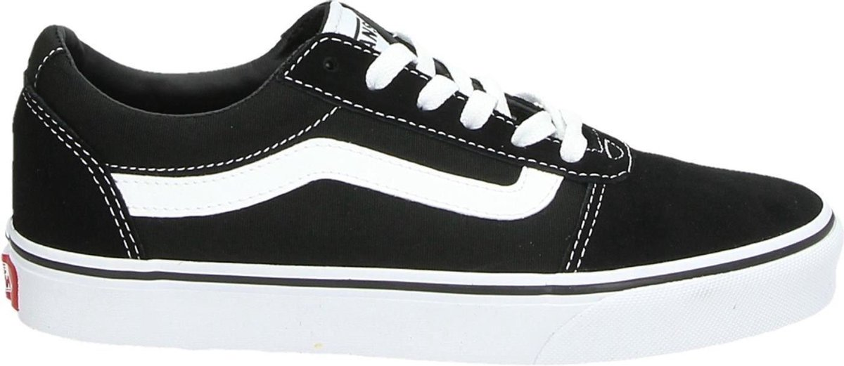 Vans Ward Suede/Canvas Dames Sneakers - Black/White - Maat 38.5