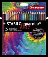 STABILO Aquacolor - Premium Aquarel Kleurpotlood - ARTY etui 24 Kleuren
