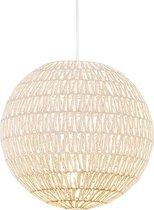 QAZQA lina - Grote hanglamp - 1 lichts - Ø 400 mm - Wit