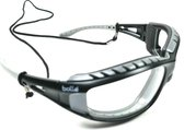 Bollé Tracker veiligheidsbril met heldere lens | Brilkoord - hoofdband en opbergzakje 4 delig