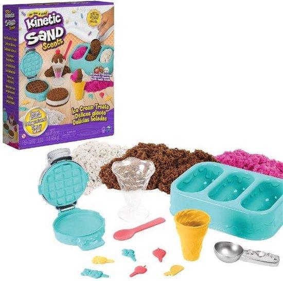 Afbeelding van Kinetic Sand IJstraktaties speelset - drie kleuren geurend zand - 510 gram speelgoed