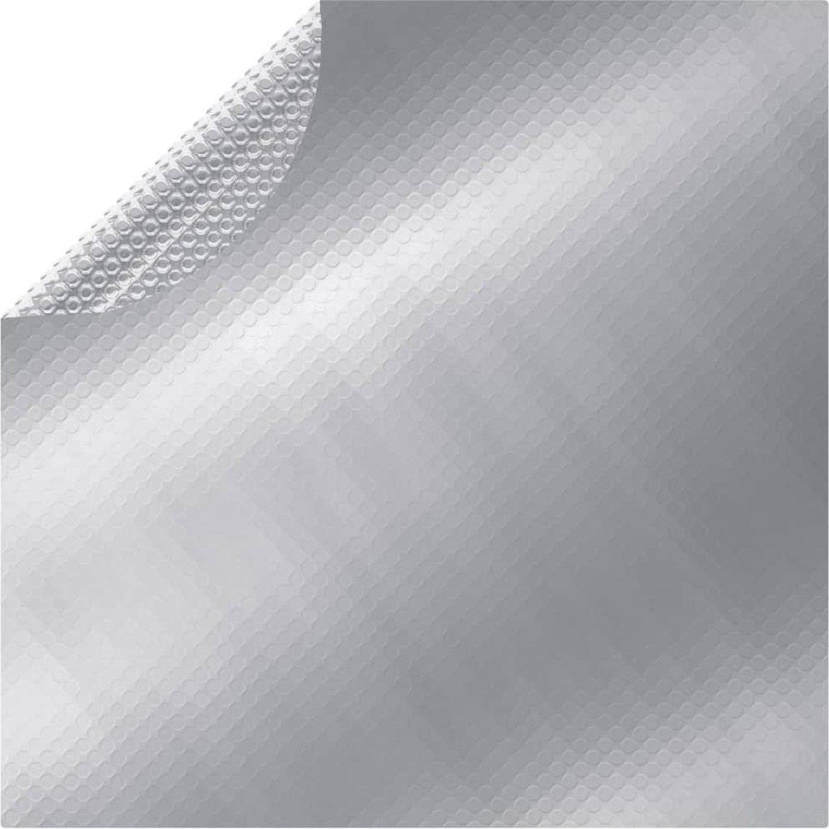 vidaXL Zwembadhoes 417 cm PE zilverkleurig