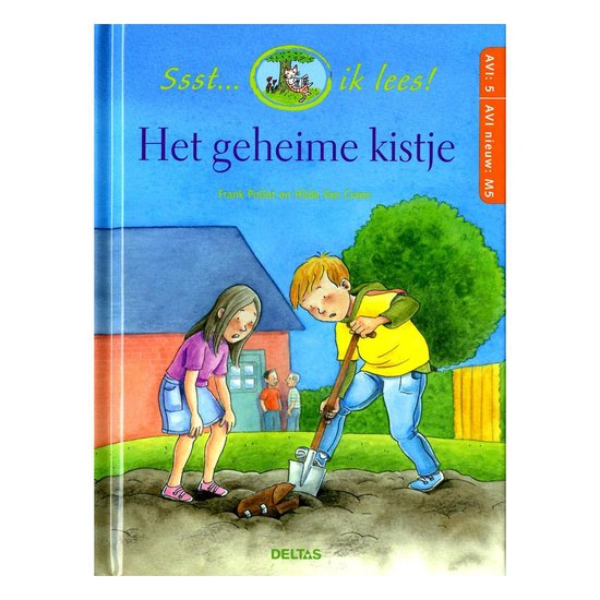 Boek cover Ssst... ik lees!  -   Het geheime kistje van Frank Pollet (Hardcover)
