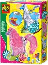 Figuren gieten en schilderen paard met glitters