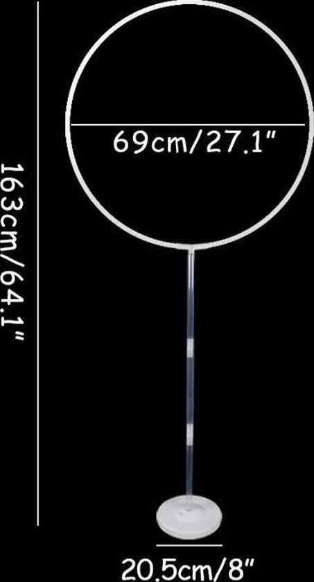 Ballonstandaard cirkel op voet, ballonvoet, kindercrea