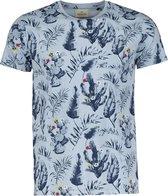 Hensen T-shirt - Slim Fit - Blauw - 4XL Grote Maten