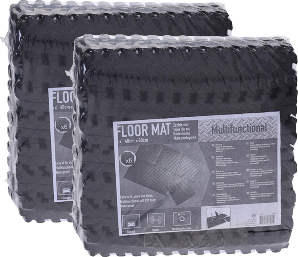 Zwembadtegels - Voordeelverpakking - 2 verpakkingen van 6 tegels - 40x40 cm