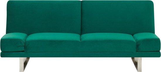Beliani YORK - Slaapbank - groen - fluweel