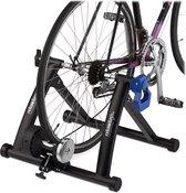 """relaxdays fietstrainer - rollenbank fiets 26-28"""" - hometrainer - fiets trainer - zwart"""