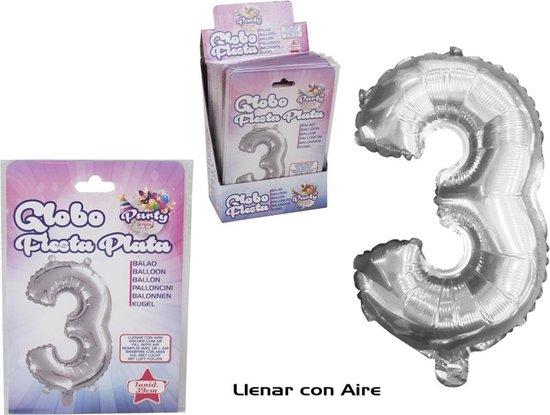 Feestballon Zilveren 39 Cm Nº 3