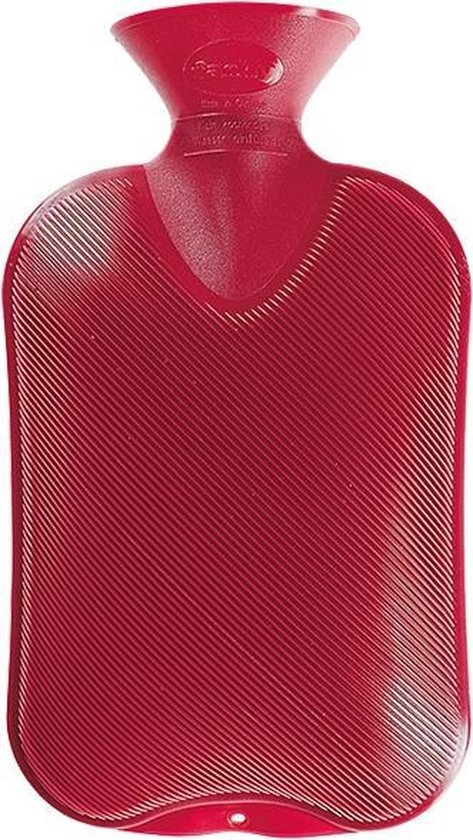 Fashy warm water kruik - cranberry geribbeld