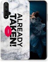 Honor 20 | Huawei Nova 5T Siliconen hoesje met naam Already Taken White