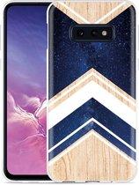 Galaxy S10e Hoesje Space wood