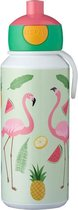 Mepal Campus Drinkfles Pop-up 400 ml - Tropical Flamingo